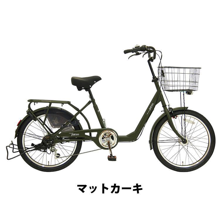 自転車 小径車 完全組立 パテオ 22インチ 6段変速 オートライト 通勤 通学 3人乗り対応 Pro-vocatio|jitensha-box|03