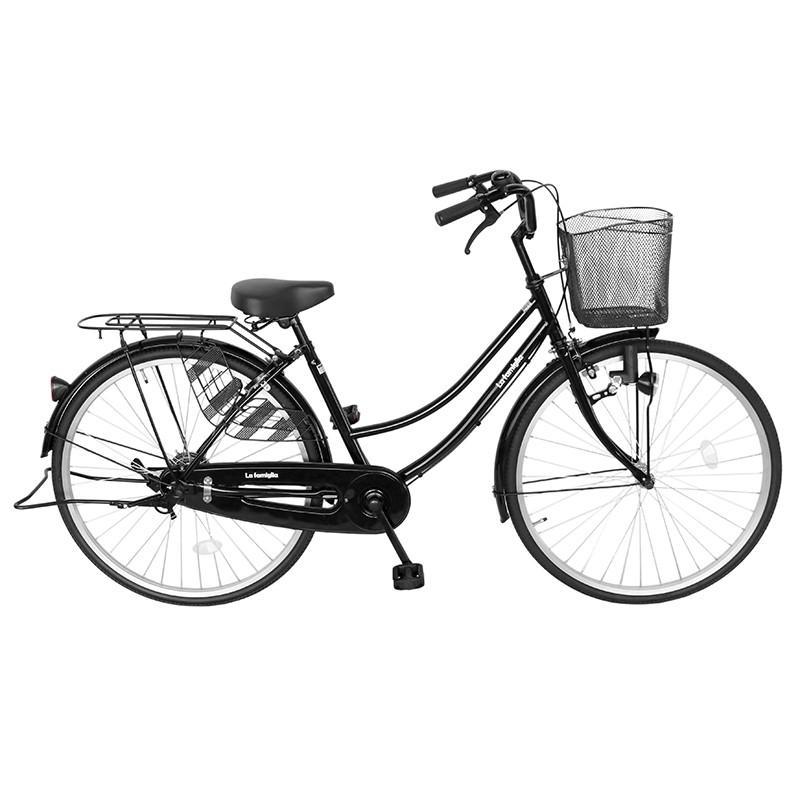 次回入荷未定 自転車 26インチ ママチャリ 激安 シティサイクル 安い 本体 おしゃれ ブラック 黒 すそ ファミリア  :4571487003601:自転車BANK - 通販 - Yahoo!ショッピング