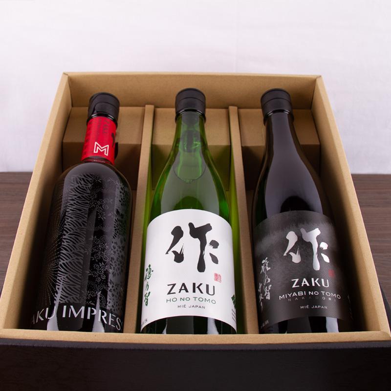 日本酒 飲み比べセット 化粧箱入 送料込  作 雅乃智中取り 穂乃智 インプレッション 720ml×3本 jizake-mie