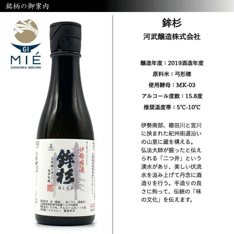 GI三重認定記念 ソムリエが選ぶ美し国 三重の酒 Cセット 300ml×6本 瀧自慢 鉾杉 半蔵 伝 蒼石 天慶 jizake-mie 05