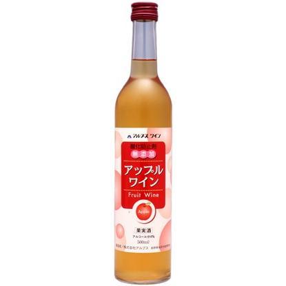 アルプスワイン 無添加 アップルワイン 甘口 500ml 低アルコール果実酒 長野県 国産ワイン りんごワイン