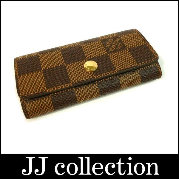 【70%OFF】 LOUIS VUITTON 4連キーケース ダミエ・エベヌ, 豊和 bc6be5a4