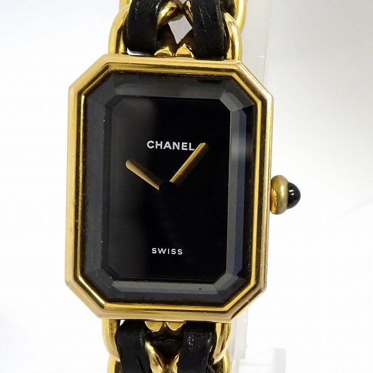 独特な店 【】シャネル レディース腕時計 プルミエール サイズ表記:L クオーツ ゴールド/ブラック 黒文字盤 H0001-L, アネックススポーツ 9f80e0a1