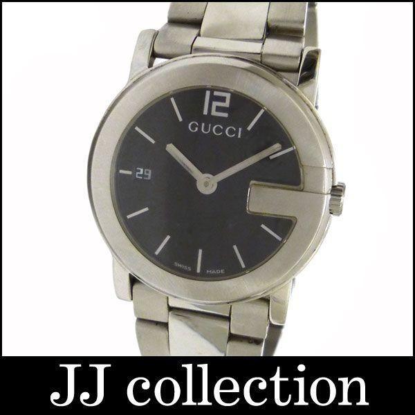 柔らかい GUCCI メンズ腕時計 Gラウンドウォッチ SS クオーツ ブラック(黒)文字盤, ペーパーランド c9e02e2b