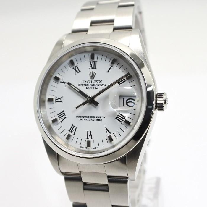 週間売れ筋 【】ロレックス メンズ腕時計 オイスターパーペチュアルデイト Ref.15200 P番 メンズ腕時計 SS Ref.15200 AT(自動巻き) AT(自動巻き) ホワイト文字盤, キタゴウチョウ:53d3559f --- airmodconsu.dominiotemporario.com