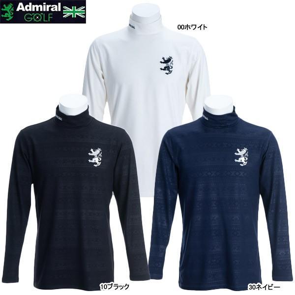 ♪【2019 A/W】アドミラル メンズ フェアアイルエンボス ハイネックシャツ ADMA9A6 (Men's) CONCEPT-3 FOLKLORE Admiral Golf