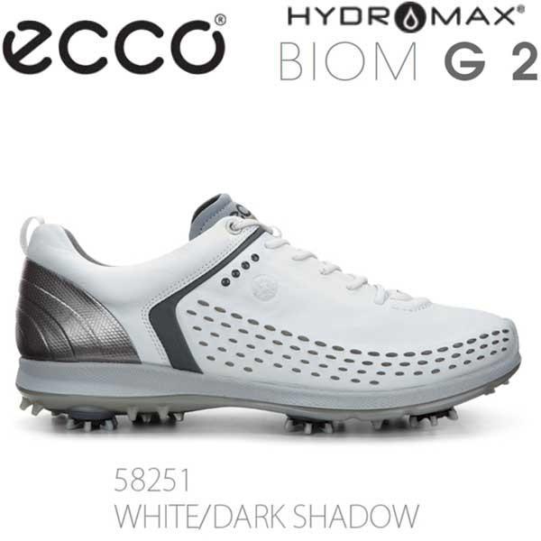 【16年モデル】 エコー メンズ ゴルフシューズ BIOM G 2 130614-58251(白い/DARK SHADOW) (Men's) ecco