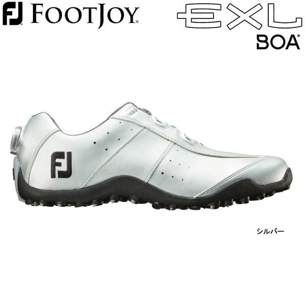 【20年継続モデル】フットジョイ ゴルフシューズ EXL スパイクレス ボア (Men's) 45182 (シルバー) 横幅(ウィズ)/W FOOTJOY EXL Spikeless Boa