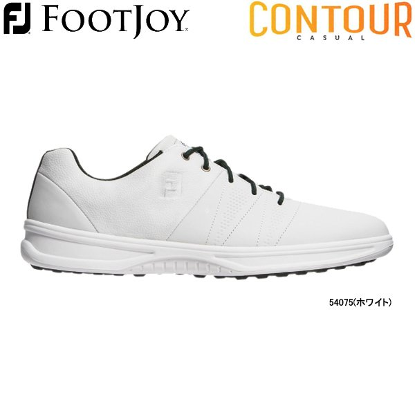 【20年モデル】フットジョイ スパイクレス ゴルフシューズ コンツアー カジュアル (Men's) 54075(ホワイト) 横幅(ウィズ)/W FOOTJOY CONTOUR CASUAL