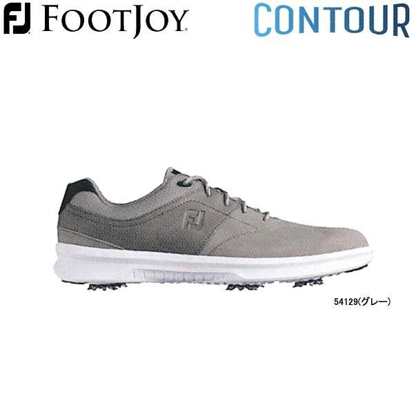 【20年モデル】フットジョイ ゴルフシューズ コンツアー (Men's) 54129 (グレー) 横幅(ウィズ)/W FOOTJOY CONTOUR