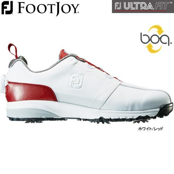 【大特価】【19年継続モデル】フットジョイ メンズ ゴルフシューズ FJウルトラ フィット (Men's) 54143 (ホワイト/レッド) FOOTJOY 横幅(ウィズ)/W FJ ULTRA FIT