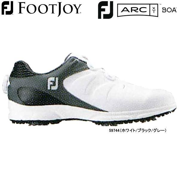 【19年モデル】 フットジョイ ゴルフシューズ FJ ARC XT ボア (Men's) 59744 (ホワイト/ブラック/グレー) 横幅(ウィズ)/W FOOTJOY FJ ARC XT BOA