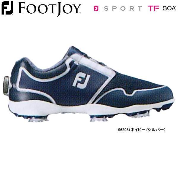 【19年モデル】【レディース】 フットジョイ ゴルフシューズ FJ スポーツ TF ボア (Lady's) 96208 (ネイビー/シルバー) 横幅(ウィズ)/W FOOTJOY Sport TF Boa