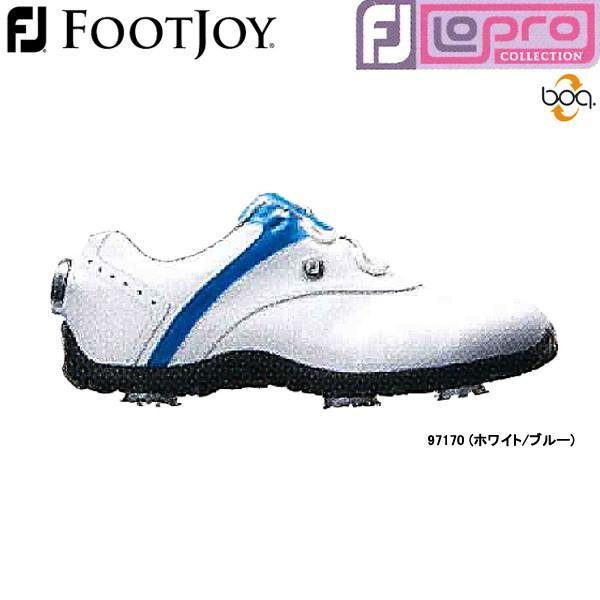 【18年モデル】【レディース】フットジョイ ゴルフシューズ ロープロ スポーツ スパイク ボア (Lady's) 97170 (ホワイト/ブルー) 横幅(ウィズ)/W FOOTJOY