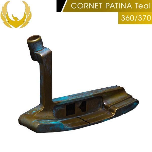 ♪【19年継続モデル】クロノスゴルフ コルネット パティーナ ティール 360/370 パター ブレード(ピン)型 KRONOS GOLF CORNET PATINA Teal