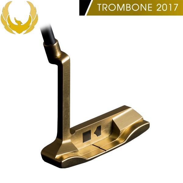♪【19年継続モデル】クロノスゴルフ トロンボーン 2017 パター (ゴールド) ブレード(ピン)型 KRONOS GOLF TROMBONE