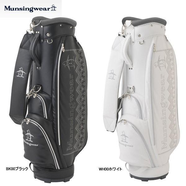 【18年AWモデル】【レディース】マンシングウェア ゴルフ 軽量キャディバッグ MQCMJJ00 (Lady's) トライバルパターンのスタッズ風 Munsingwear