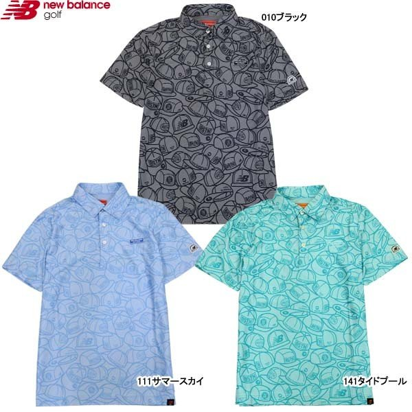 【2019 S/S】ニューバランス メンズ S/スリーブ カラーシャツ 012-9168009 (Men's) S/SLEEVE COLLAR SHIRT METRO new balance