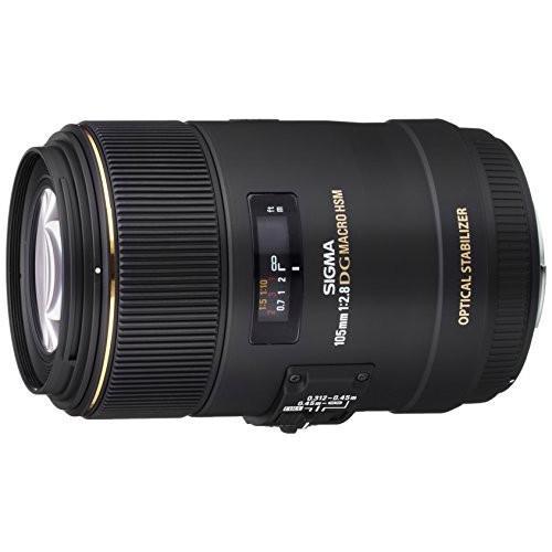 中古:SIGMA 単焦点マクロレンズ MACRO 105mm F2.8 EX DG OS HSM シグマ用 フルサイズ対応 258566