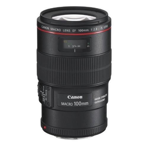 中古:Canon 単焦点マクロレンズ EF100mm F2.8L マクロ IS USM フルサイズ対応
