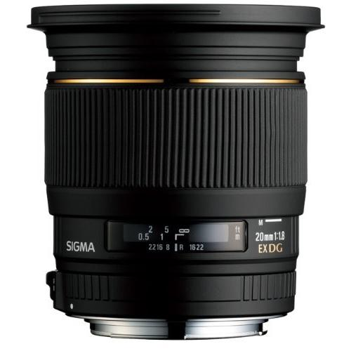 中古:SIGMA 単焦点広角レンズ 20mm F1.8 EX DG ASPHERICAL RF キヤノン用 フルサイズ対応