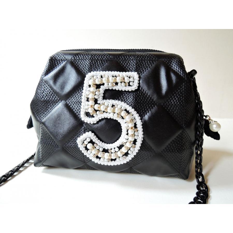 5番のショルダーバッグ パールS|joan08