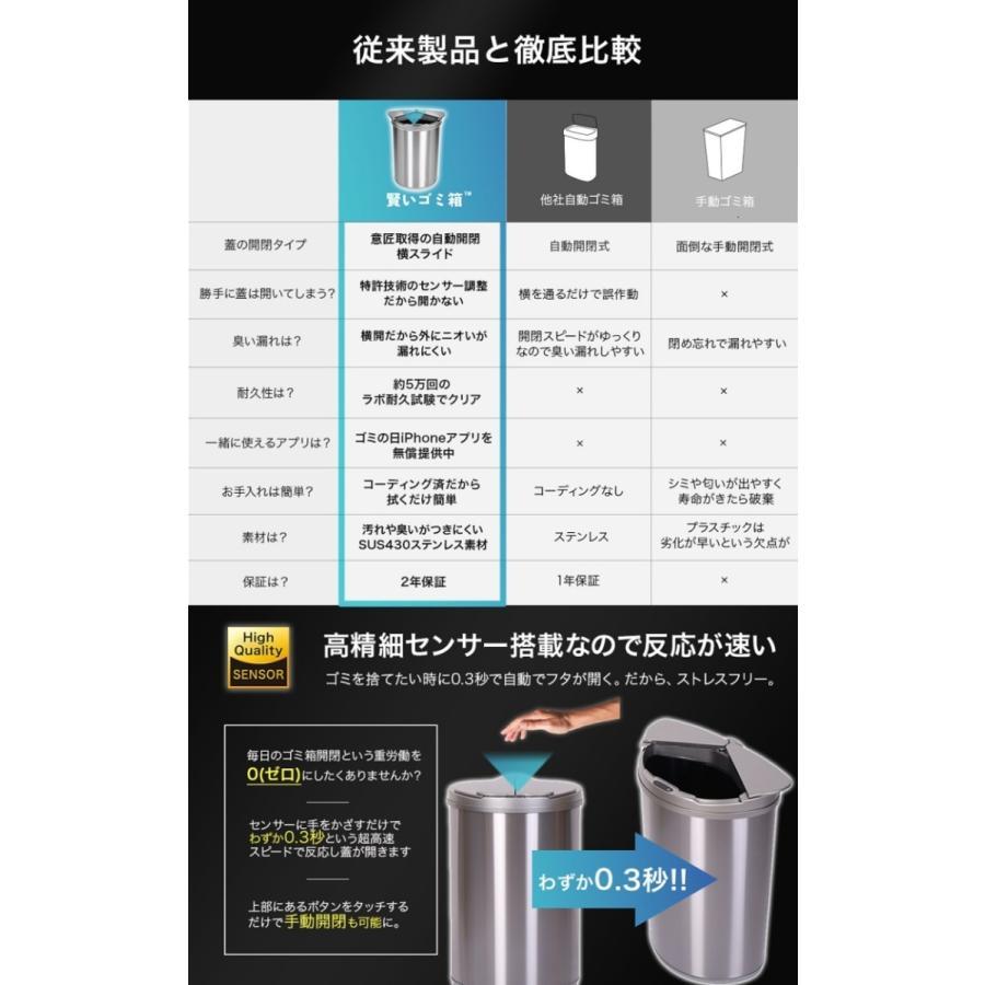 賢いゴミ箱 自動センサー ゴミ箱 自動開閉ゴミ箱 自動ゴミ箱 ゴミ箱 45l センサー 自動 電池式 スリム ステンレス JB03 メーカー2年保証|jobson|07
