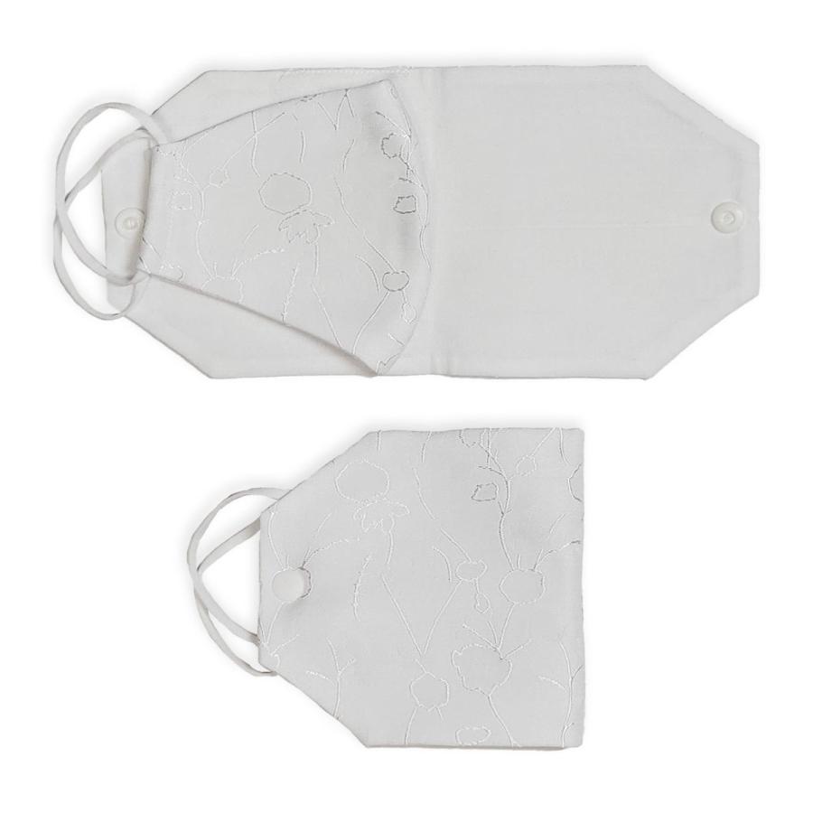 Avec Masque フォーマル用マスク&小物3点セット フォーマル 通販 パーティー 結婚式 布マスク サブバッグ マスクケース マスク収納|johflower|07