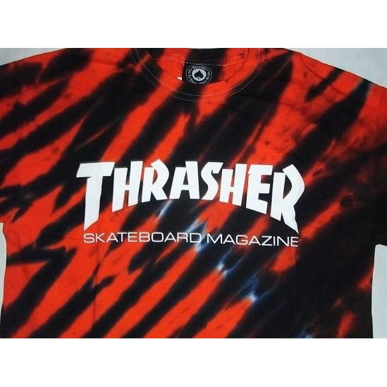 THRASHER スラッシャー MAGAZINEロゴ TIGER STRIPE タイガーストライプ タイダイ Tシャツ  jonnybeeameyoko 03