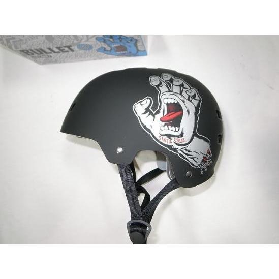 SANTACRUZ BULLET バレット x サンタクルーズ スクリーミングハンド ヘルメット 黒x灰