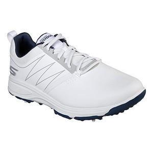 スケッチャーズ メンズ・スパイク・ゴルフシューズ(ホワイト/ ネイビー・27.5cm) Skechers GO GOLF TORQUE SK19-54541-WNV-275 返品種別A