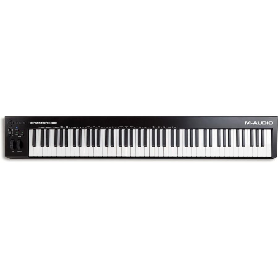 エムオーディオ 88鍵USB 大幅にプライスダウン MIDIセミウェイト キーボード M-AUDIO 88 返品種別A KEYSTATION MA-CON-035 MK3 未使用
