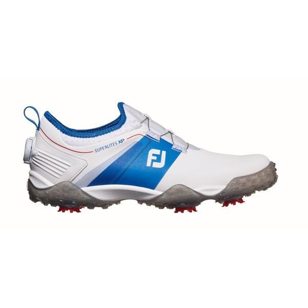フットジョイ メンズ・ゴルフシューズ(ホワイト×ブルー・25.5cm) FootJoy スーパーライトXP #58068 58068W255 返品種別A