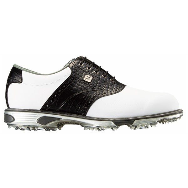 フットジョイ メンズ・ゴルフシューズ (ホワイト×ブラック・サイズ:25.5cm) footjoy ドライジョイズ ツアー 53610W255 返品種別A