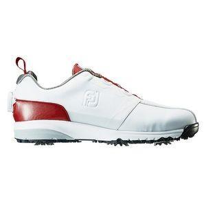 フットジョイ メンズ・ゴルフシューズ (ホワイト+レッド・26.5cm) FJ ULTRA FIT #54143 54143W265 返品種別A