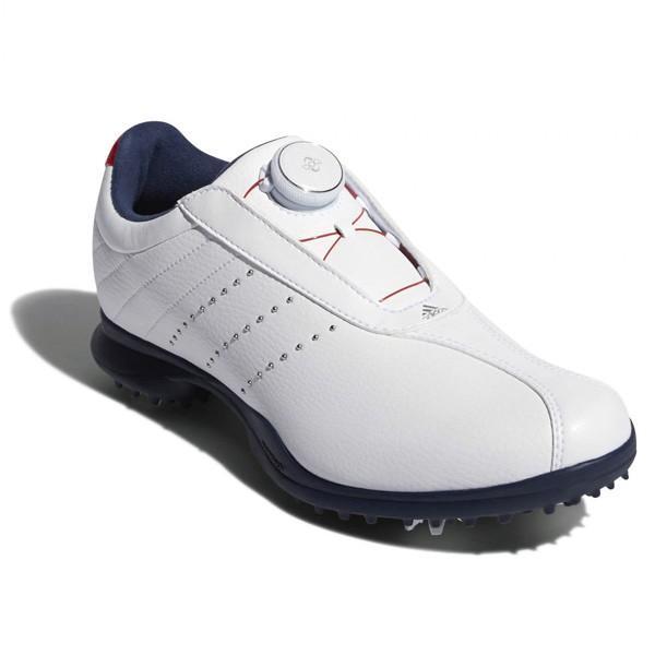 アディダス レディース・スパイク・ゴルフシューズ(ランニングホワイト/ スカーレット/ カレッジネイビー・24.5cm) F33605 AD18SS F33605 245 返品種別A