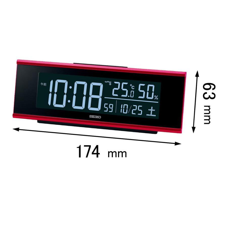 新作製品 世界最高品質人気 セイコータイムクリエーション 電波目覚まし時計SEIKO 2020A/W新作送料無料 70色LED液晶電波目覚まし時計 返品種別A DL-307-R