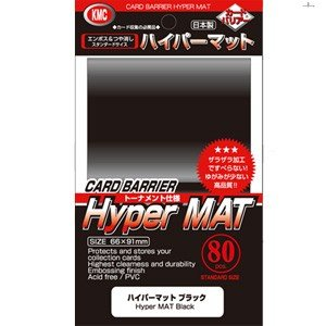 KMC カードバリアー ハイパーマットシリーズ ハイパーマット 新作 80枚入 ブラック 販売期間 限定のお得なタイムセール 返品種別B