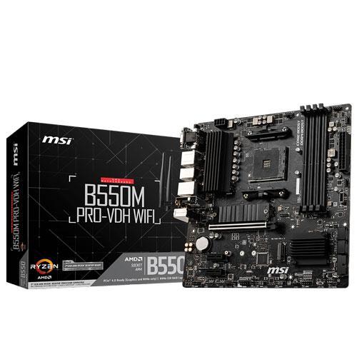 激安卸販売新品 MSI Micro ATX対応マザーボードB550M PRO-VDH B550M WIFI 爆買い新作 返品種別B