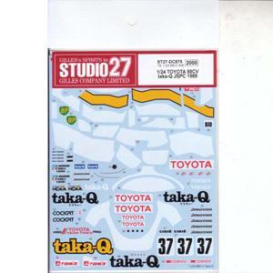 スタジオ27 1 24 トヨタ88CV taka-Q JSPC 返品種別B 正規激安 ST27-DC875 お得 タミヤ対応 デカール 1988