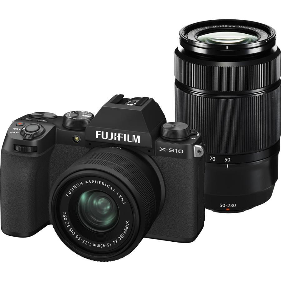 富士フイルム ミラーレス一眼カメラ FUJIFILM 新商品 新型 X-S10 ダブルズームレンズキット フジフィルム FX-S10LK-1545 流行 XS10 50230 返品種別A