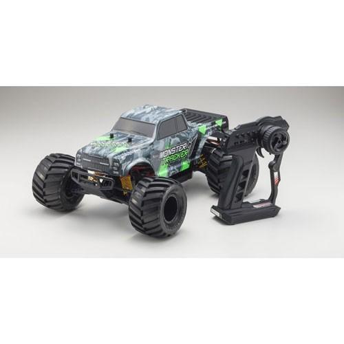 京商 (再生産)1/ 10 電動ラジオコントロール 2WDモンスタートラック レディセット モンスタートラッカー カラータイプ1 KT-232P付(34403T1)ラジコン 返品種別B