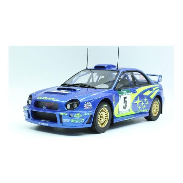 TOPMARQUES 1/ 18 インプレッサS7 555 WRC #5 2001 NZウィナー(TOP037B)ミニカー 返品種別B