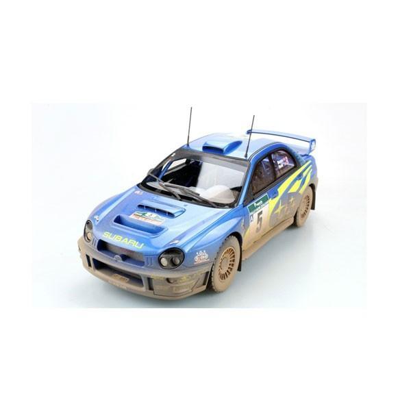 TOPMARQUES 1/ 18 インプレッサS7 555 WRC #5 2001 NZウィナー ウェザリング仕様(TOP037BD)ミニカー 返品種別B