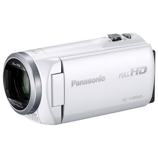 パナソニック デジタルハイビジョンビデオカメラ 超激安特価 HC-V480MS ホワイト HC-V480MS-W まとめ買い特価 返品種別A