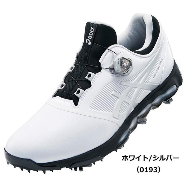 アシックス メンズ・ソフトスパイク・ゴルフシューズ (ホワイト/ シルバー・27.0cm) asics GEL-ACE PRO X Boa TGN922 0193WHSL 27.0 返品種別A