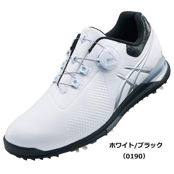 アシックス メンズ・ソフトスパイク・ゴルフシューズ (ホワイト/ ブラック・28.0cm) GEL-ACE TOUR 3 Boa TGN923 0190WHBK 28.0 返品種別A