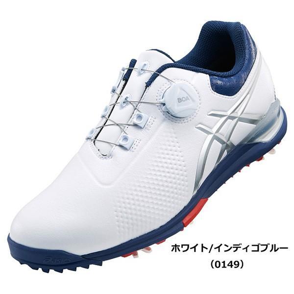 アシックス メンズ・ソフトスパイク・ゴルフシューズ (ホワイト/ インディゴブルー・27.0cm) GEL-ACE TOUR 3 Boa TGN923 0149WHIB 27.0 返品種別A