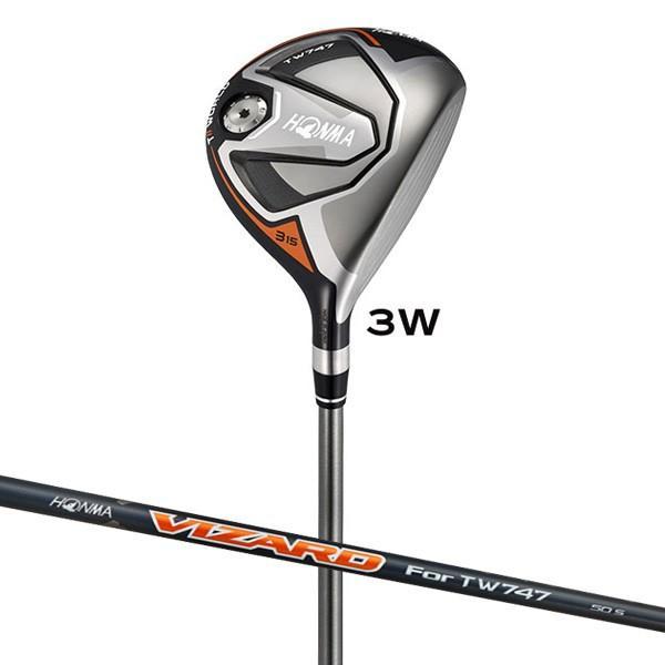 本間ゴルフ ツアーワールド TW747 フェアウェイウッド VIZARD For TW747 50シャフト #3W フレックス:SR TW747-FW#3-SR 返品種別A