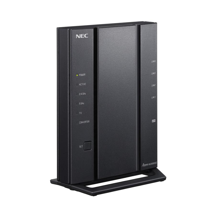 NEC 大人気 11ac対応 1733+800Mbps 流行のアイテム 無線LANルータ PA-WG2600HS2 返品種別A